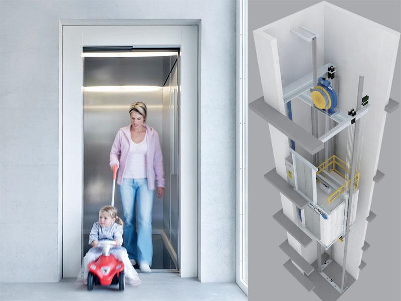 无机房乘客梯